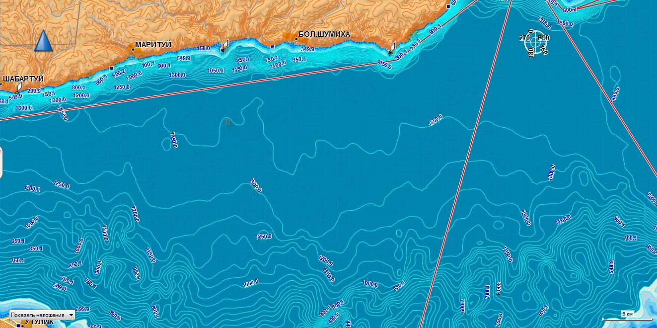 карта озера байкал для рыбаков